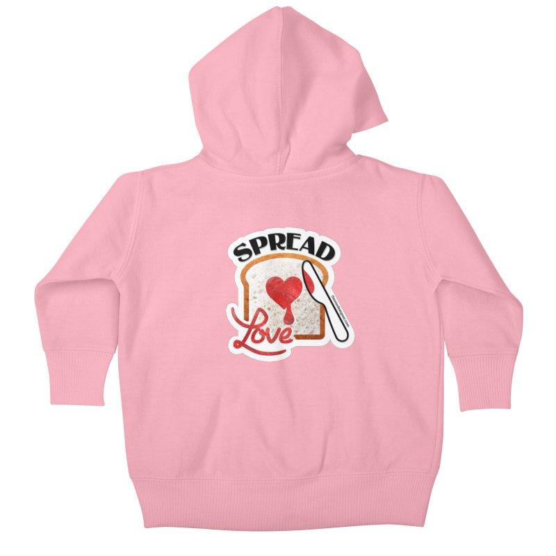 Spread Love Kids Baby Zip-Up Hoody by The One Designer MERCH