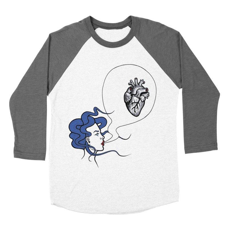Eat Your Heart Men's Baseball Triblend T-Shirt by T.O.M.'s Artist Shop