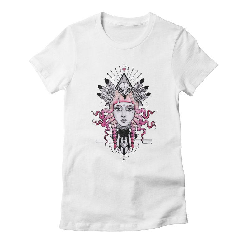 Pirate Queen Women's Fitted T-Shirt by T.O.M.'s Artist Shop