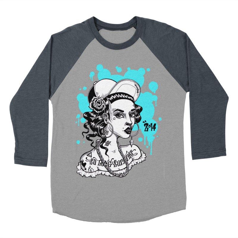 So Long Suckers (blue) Men's Baseball Triblend T-Shirt by T.O.M.'s Artist Shop