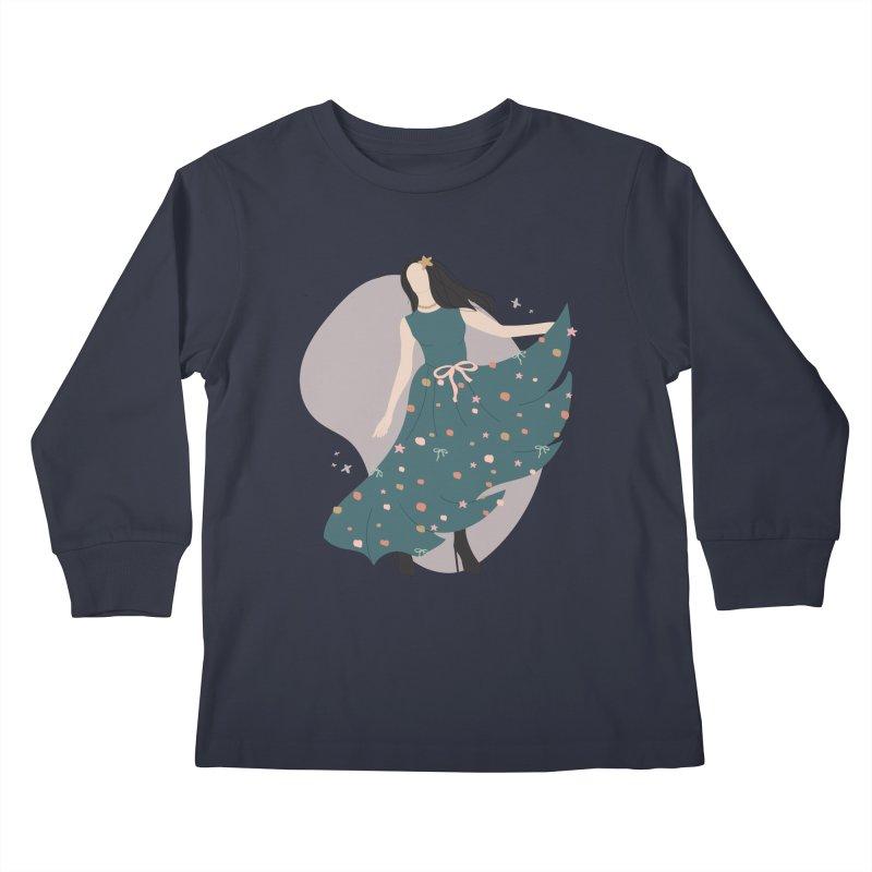 My Little Green Dress Kids Longsleeve T-Shirt by The Optimist