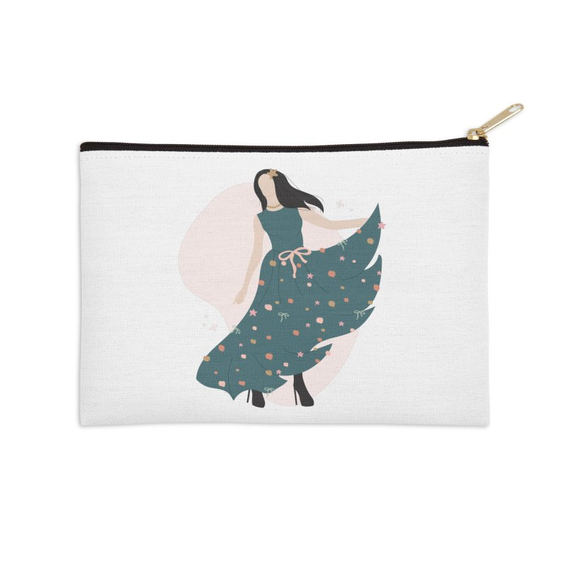 My Little Green Dress Accessories Zip Pouch by The Optimist