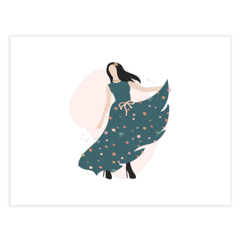 My Little Green Dress Home Fine Art Print by The Optimist