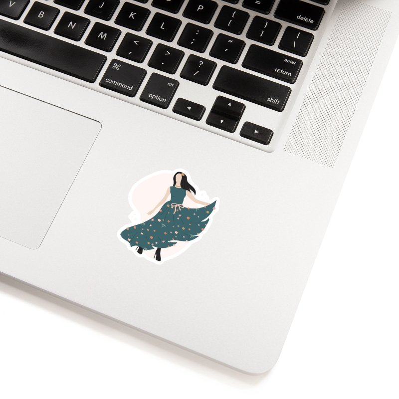 My Little Green Dress Accessories Sticker by The Optimist
