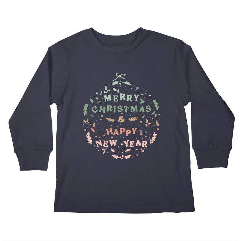 Christmas Greeting Ball Kids Longsleeve T-Shirt by The Optimist