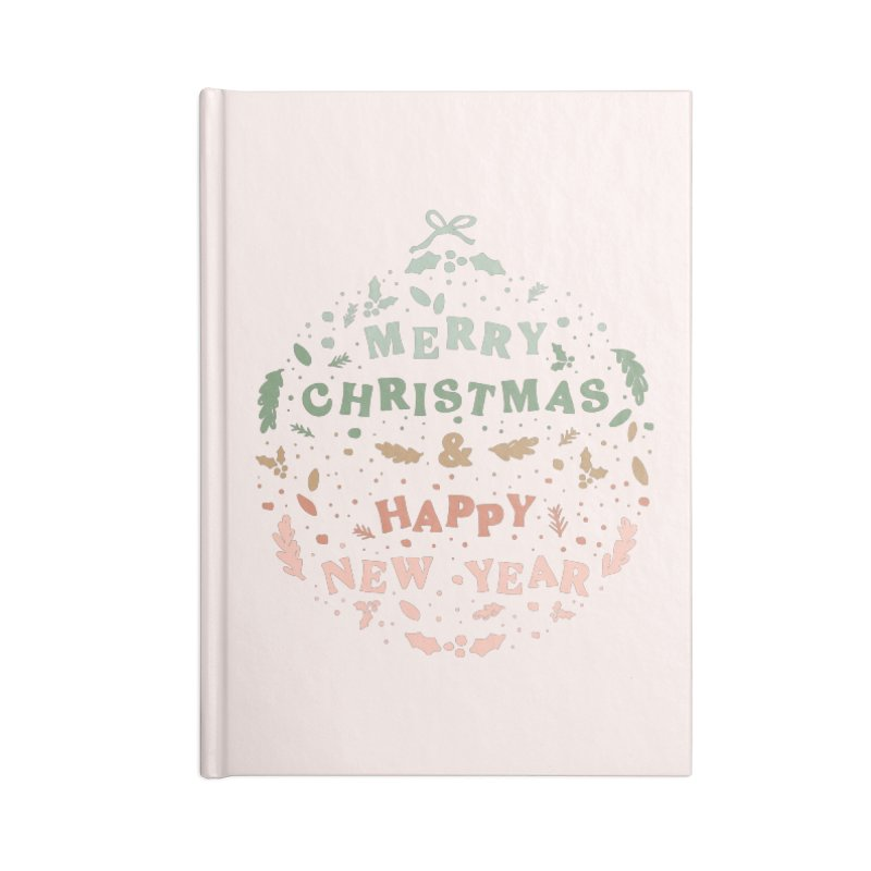 Christmas Greeting Ball Accessories Notebook by The Optimist