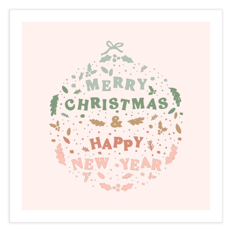 Christmas Greeting Ball Home Fine Art Print by The Optimist