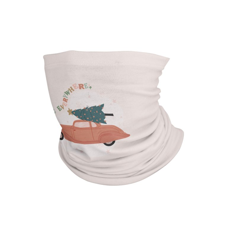 Magic Everywhere / Car with Christmas Tree Accessories Neck Gaiter by The Optimist