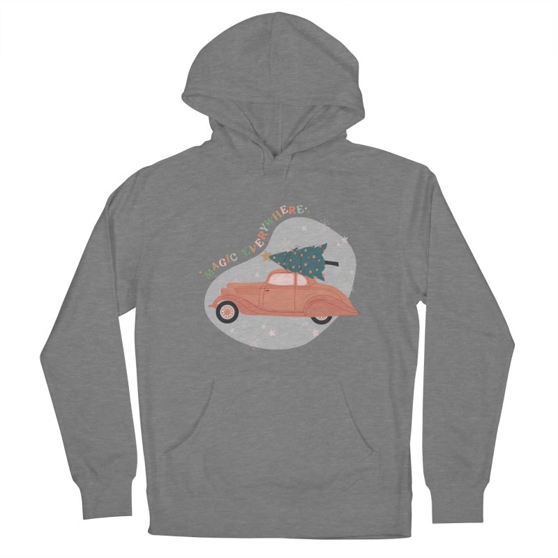 Magic Everywhere / Car with Christmas Tree Women's Pullover Hoody by The Optimist