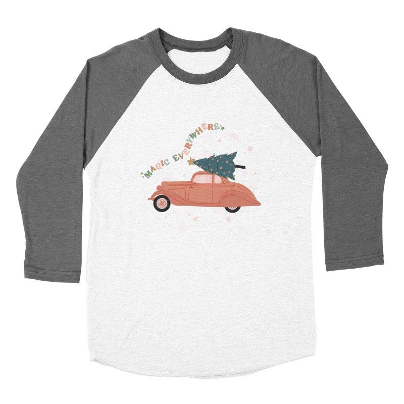 Magic Everywhere / Car with Christmas Tree Women's Longsleeve T-Shirt by The Optimist