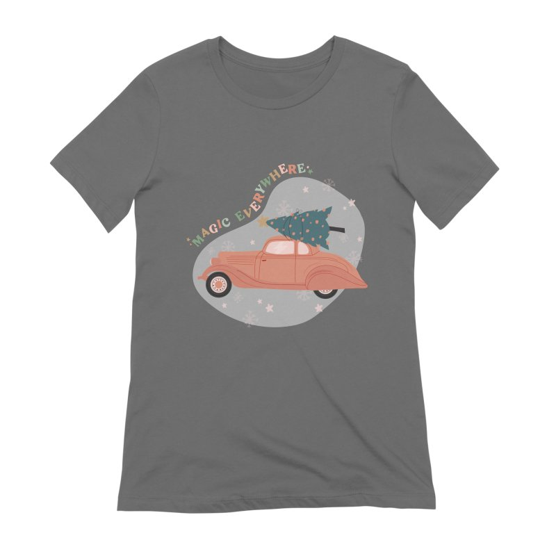 Magic Everywhere / Car with Christmas Tree Women's T-Shirt by The Optimist