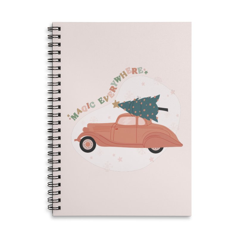 Magic Everywhere / Car with Christmas Tree Accessories Notebook by The Optimist