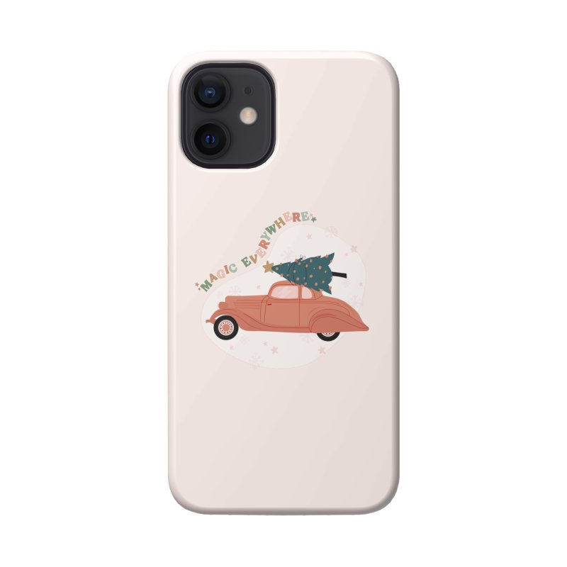 Magic Everywhere / Car with Christmas Tree Accessories Phone Case by The Optimist