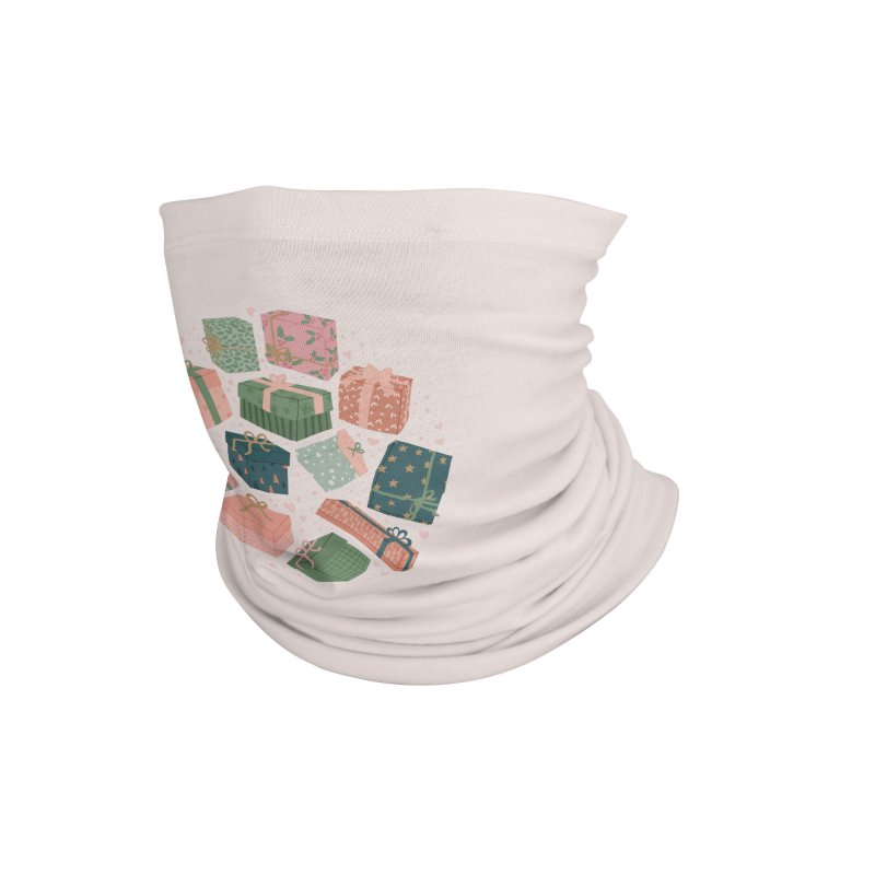Christmas Gifts in Pink & Green Accessories Neck Gaiter by The Optimist