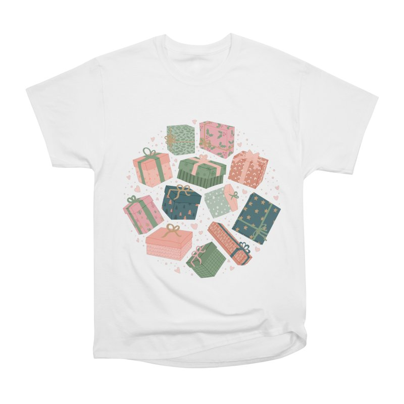 Christmas Gifts in Pink & Green Women's T-Shirt by The Optimist