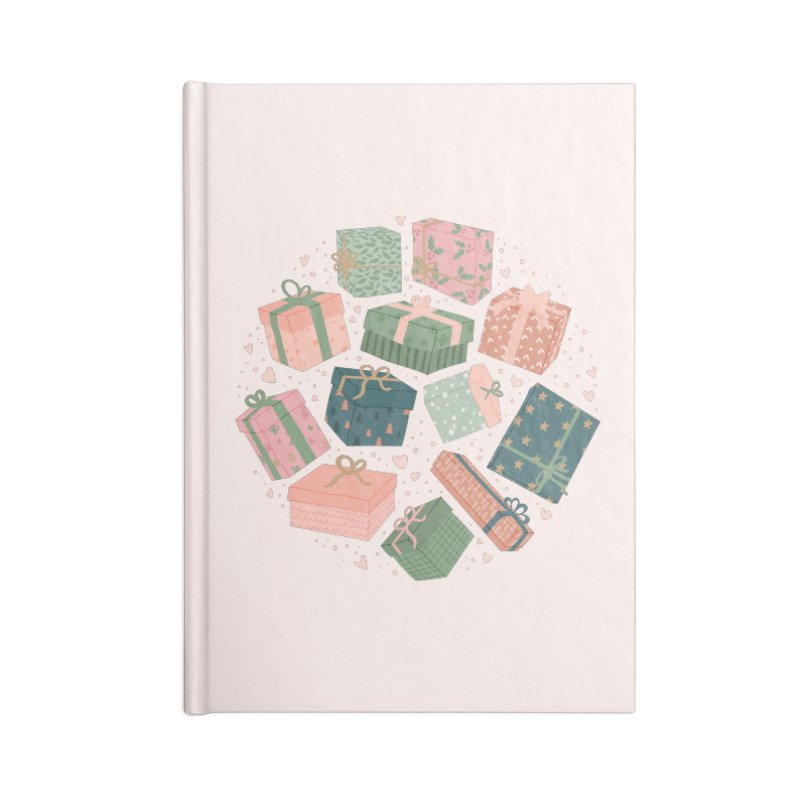 Christmas Gifts in Pink & Green Accessories Notebook by The Optimist