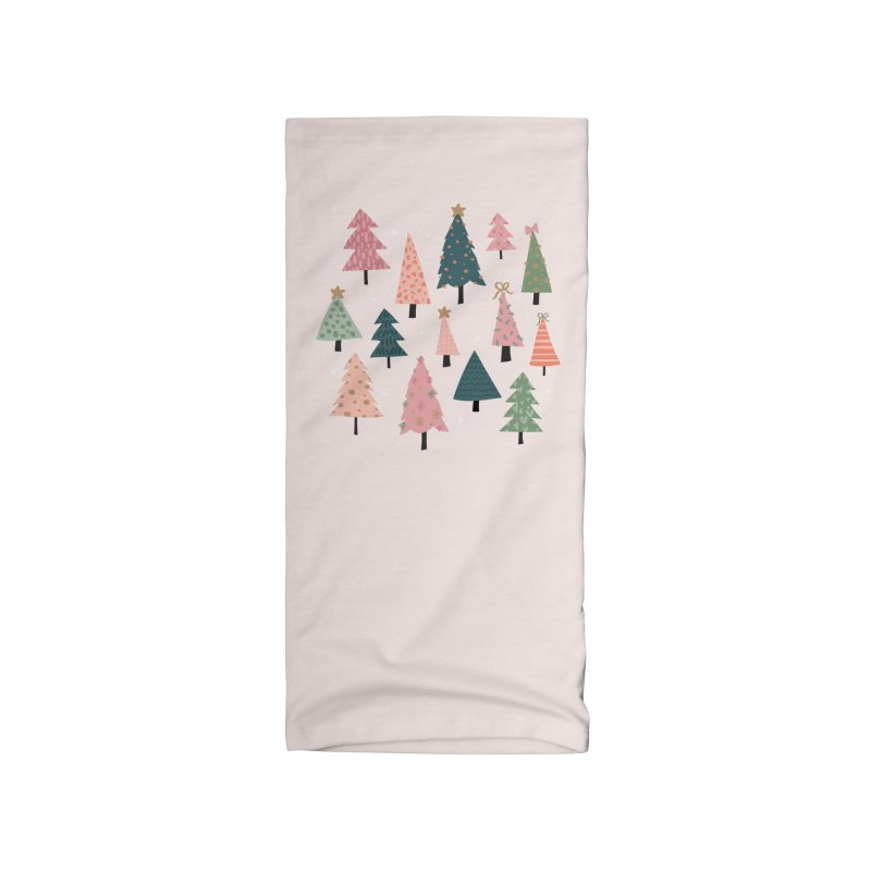 Christmas Trees  in Pink & Green Accessories Neck Gaiter by The Optimist