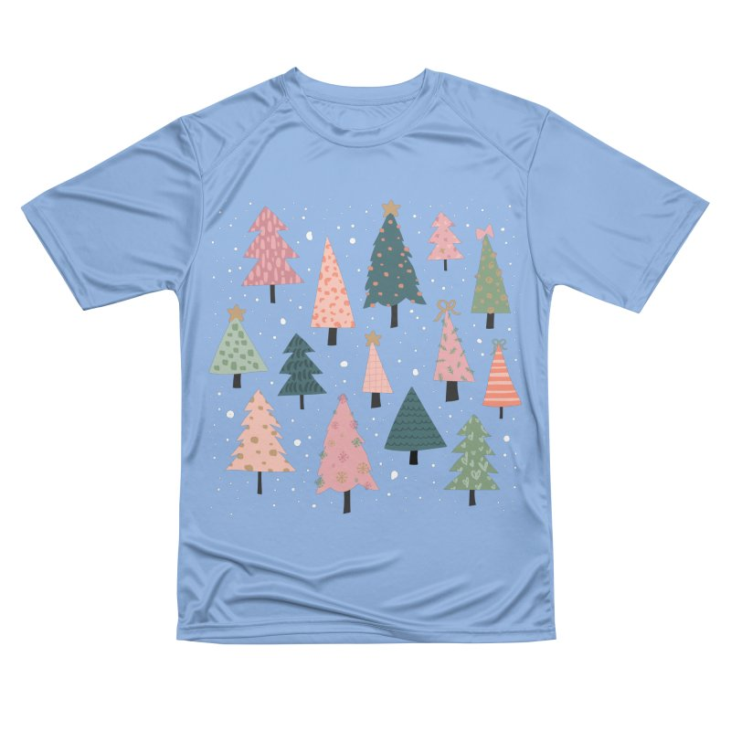 Christmas Trees  in Pink & Green Women's T-Shirt by The Optimist