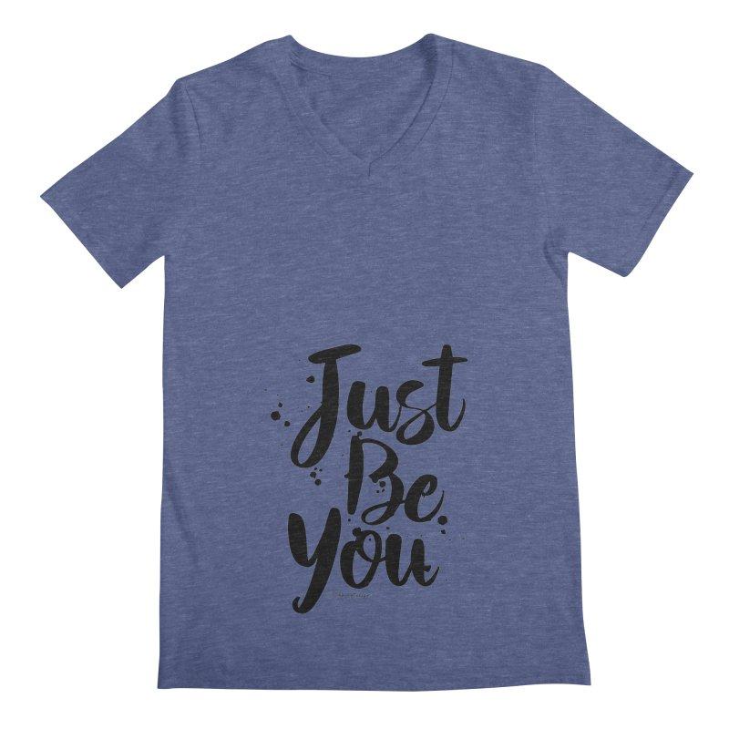 Just Be You Men's Regular V-Neck by The Optimist