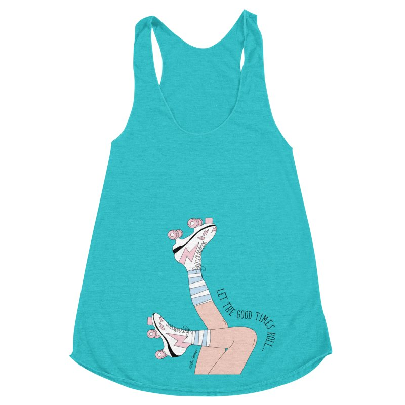 Good Times Roll Women's Racerback Triblend Tank by The Optimist