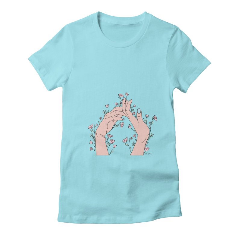 Let It Grow Women's Fitted T-Shirt by The Optimist
