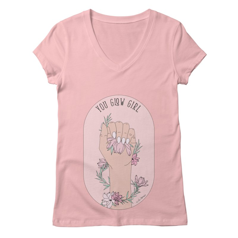 You Glow Girl Women's Regular V-Neck by The Optimist