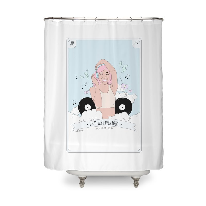 Libra - The Harmonious Home Shower Curtain by The Optimist