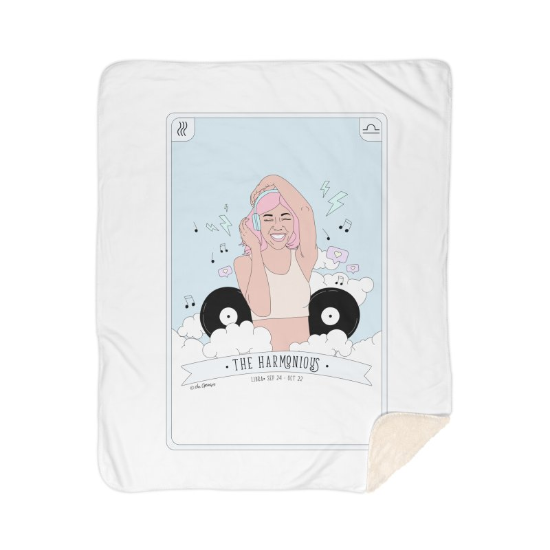 Libra - The Harmonious Home Sherpa Blanket Blanket by The Optimist