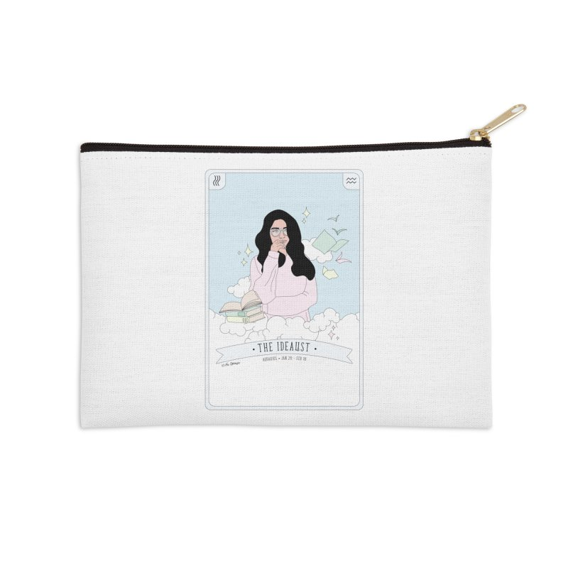 Aquarius - The Idealist Accessories Zip Pouch by The Optimist