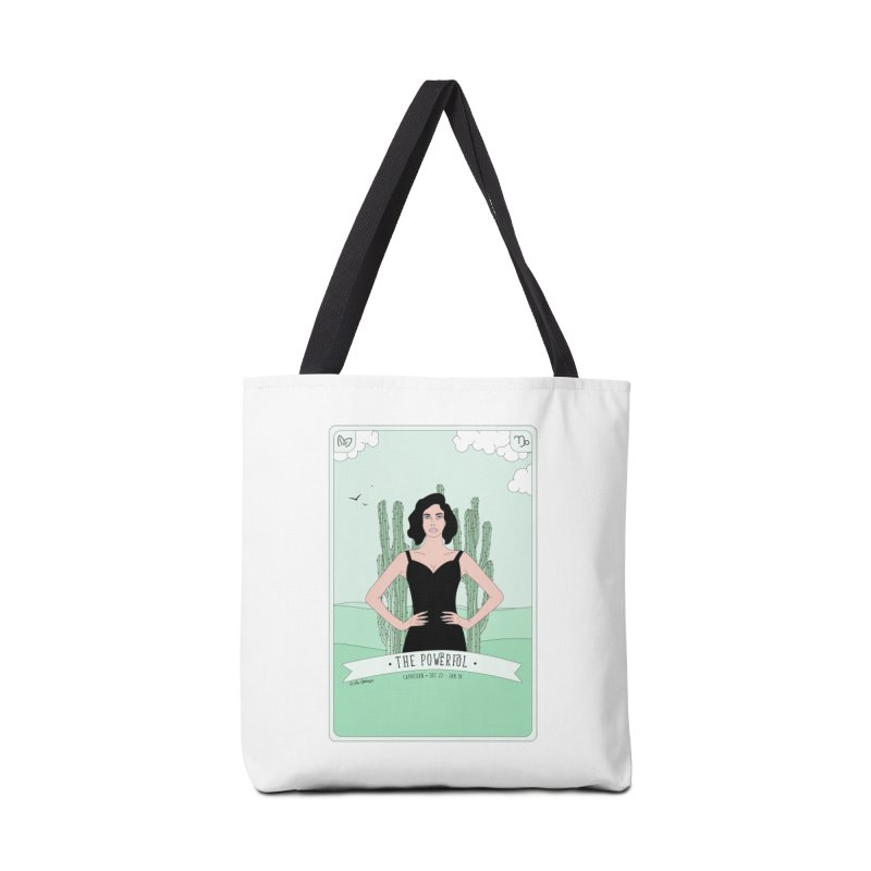 Capricorn - The Powerful Accessories Tote Bag Bag by The Optimist