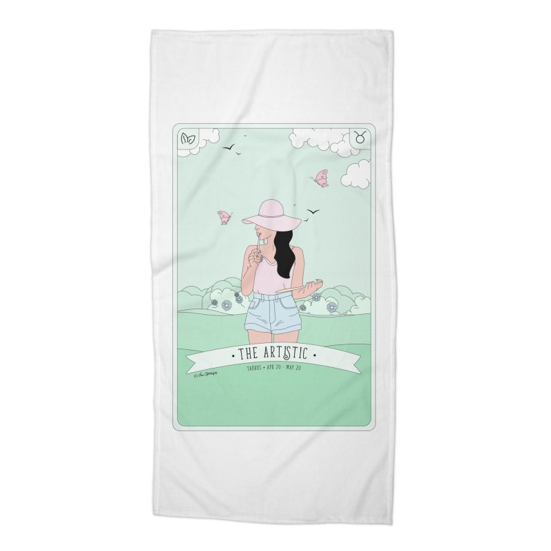 Taurus - The Artistic Accessories Beach Towel by The Optimist