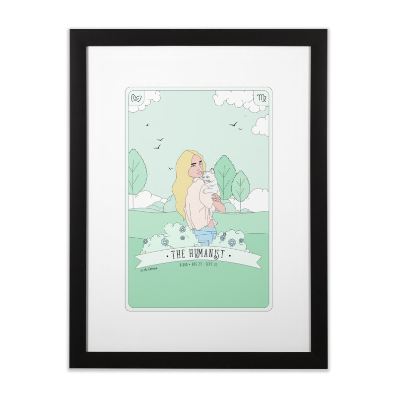 Virgo - The Humanist Home Framed Fine Art Print by The Optimist