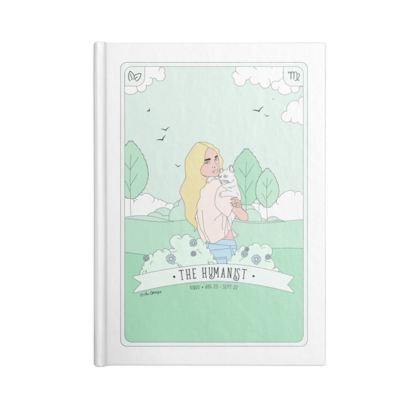 Virgo - The Humanist Accessories Lined Journal Notebook by The Optimist