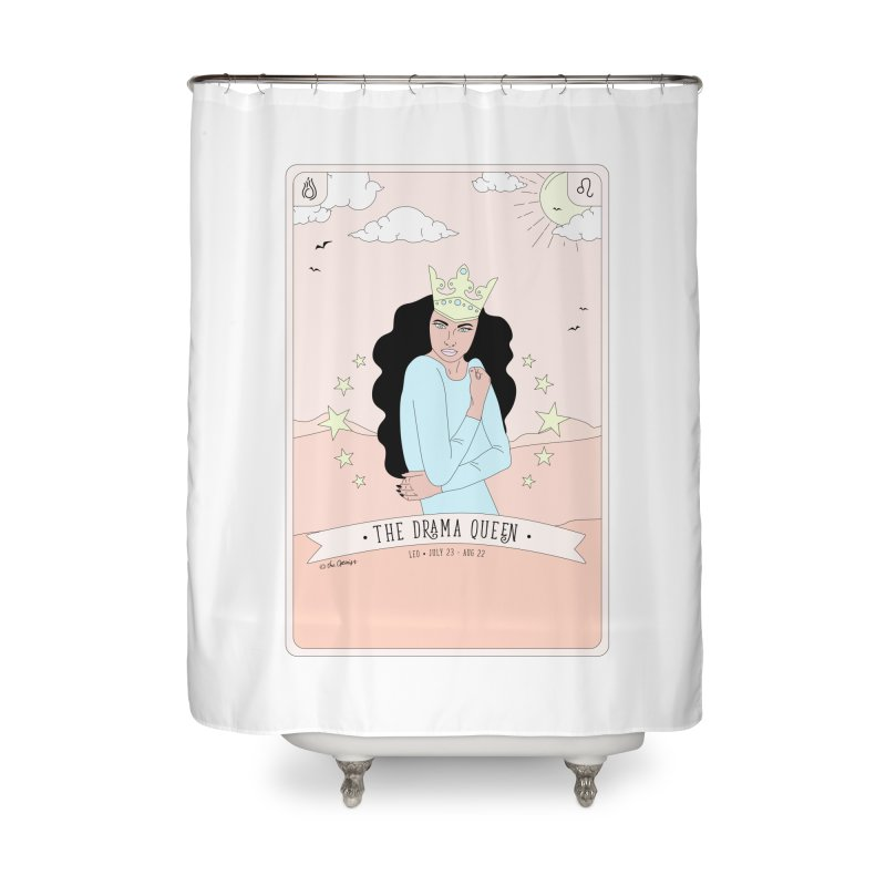 Leo - The Drama Queen Home Shower Curtain by The Optimist
