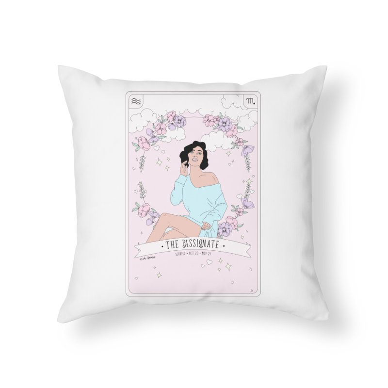 Scorpio - The Passionate Home Throw Pillow by The Optimist