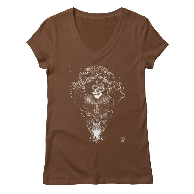 Rites of Spring: Coils Women's V-Neck by TheOrrchard's Artist Shop