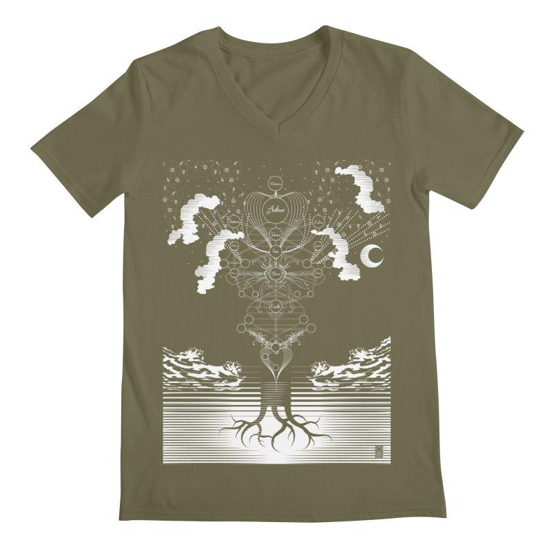 Alchemy: Tree of Life Men's V-Neck by TheOrrchard's Artist Shop