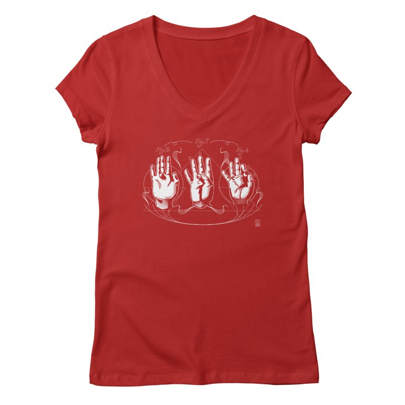 Alchemy: King of Ghost Hands Women's V-Neck by TheOrrchard's Artist Shop