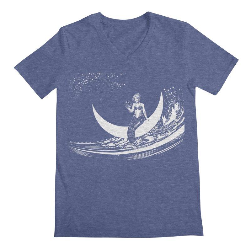 Swan Moon Men's V-Neck by TheOrrchard's Artist Shop