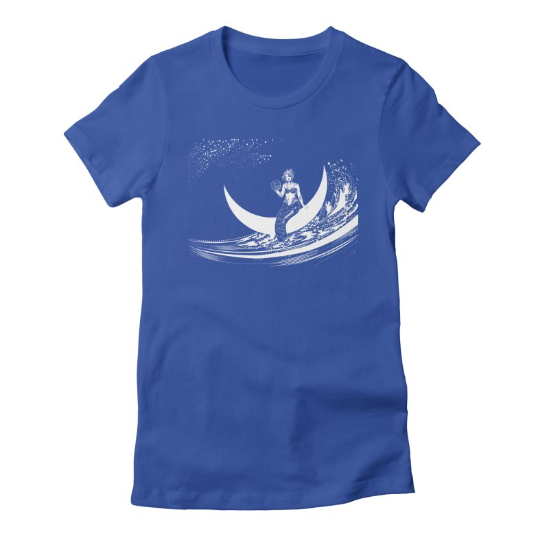 Swan Moon Women's Fitted T-Shirt by TheOrrchard's Artist Shop