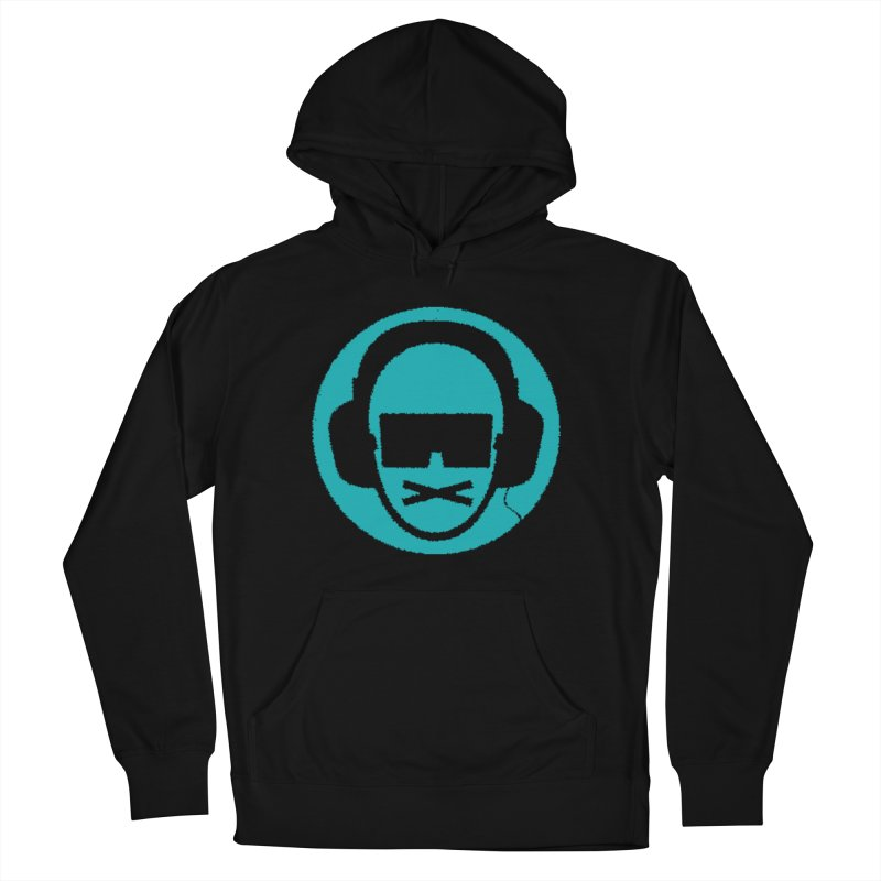 teal 3 in Men's French Terry Pullover Hoody Black by thr3ads