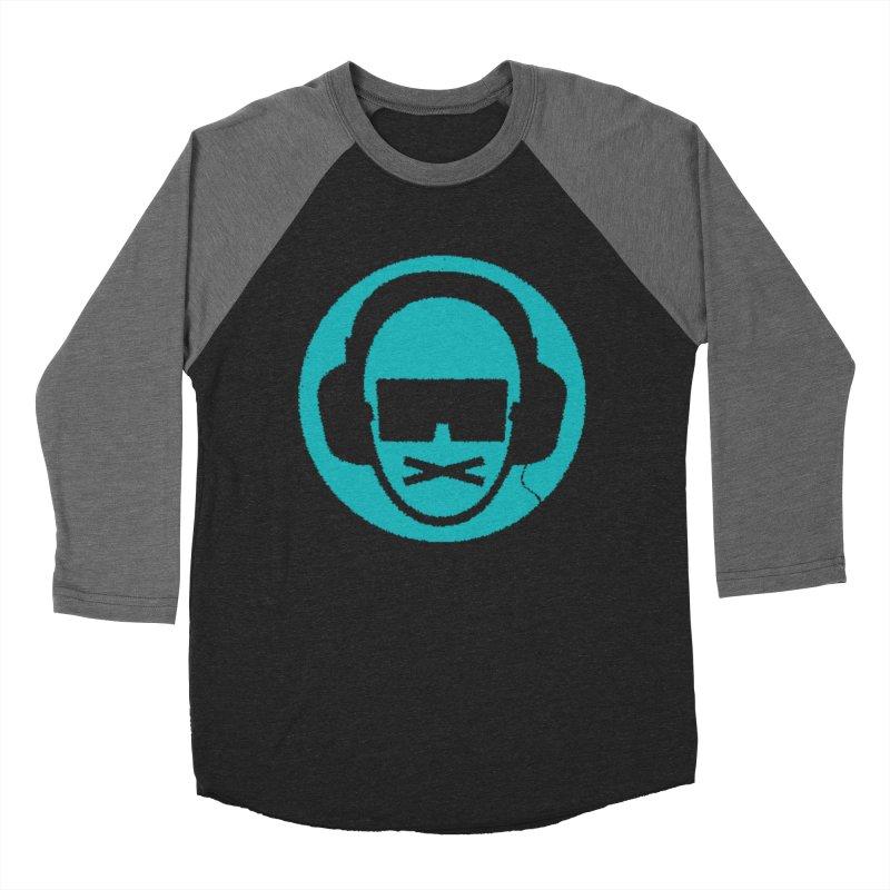 teal 3 Men's Baseball Triblend Longsleeve T-Shirt by thr3ads