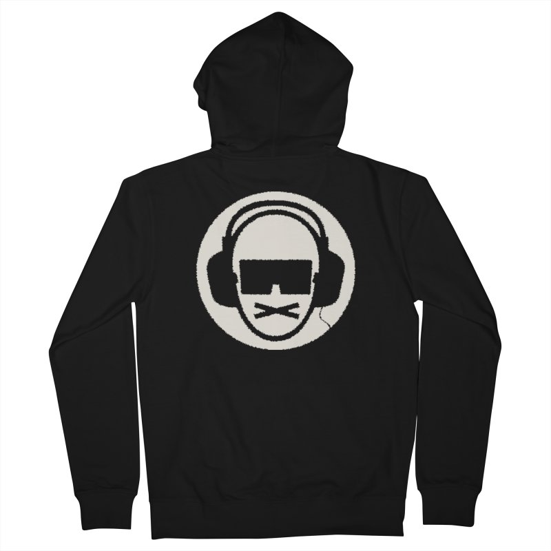 white 3 Men's French Terry Zip-Up Hoody by thr3ads