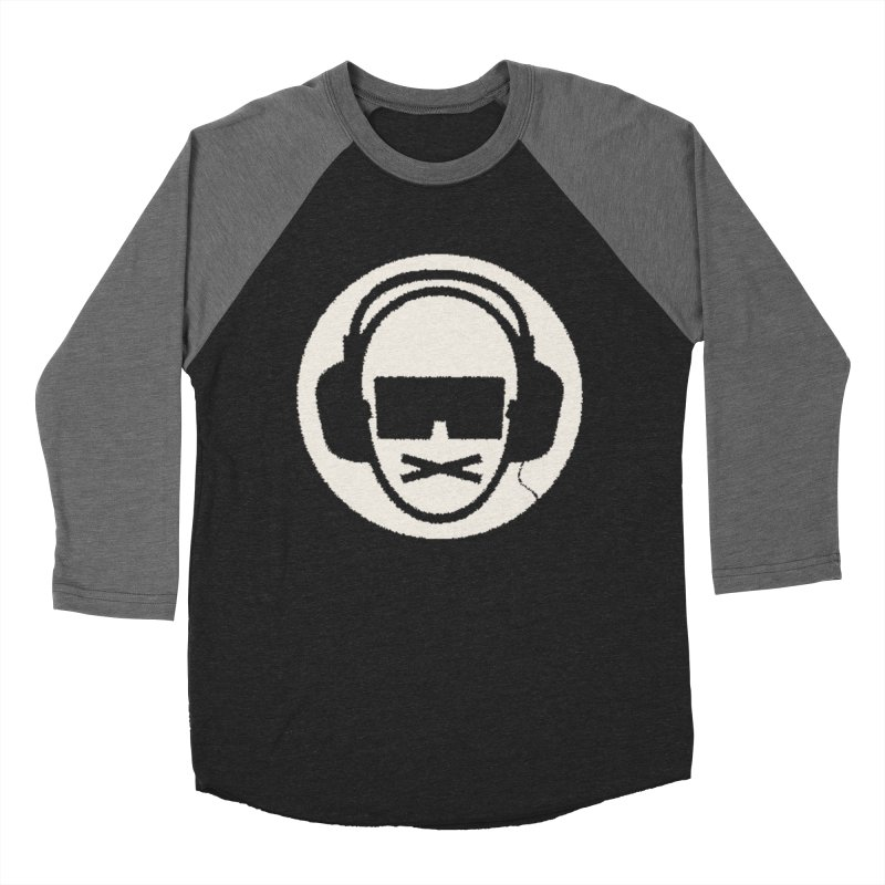white 3 in Men's Baseball Triblend Longsleeve T-Shirt Grey Triblend Sleeves by thr3ads