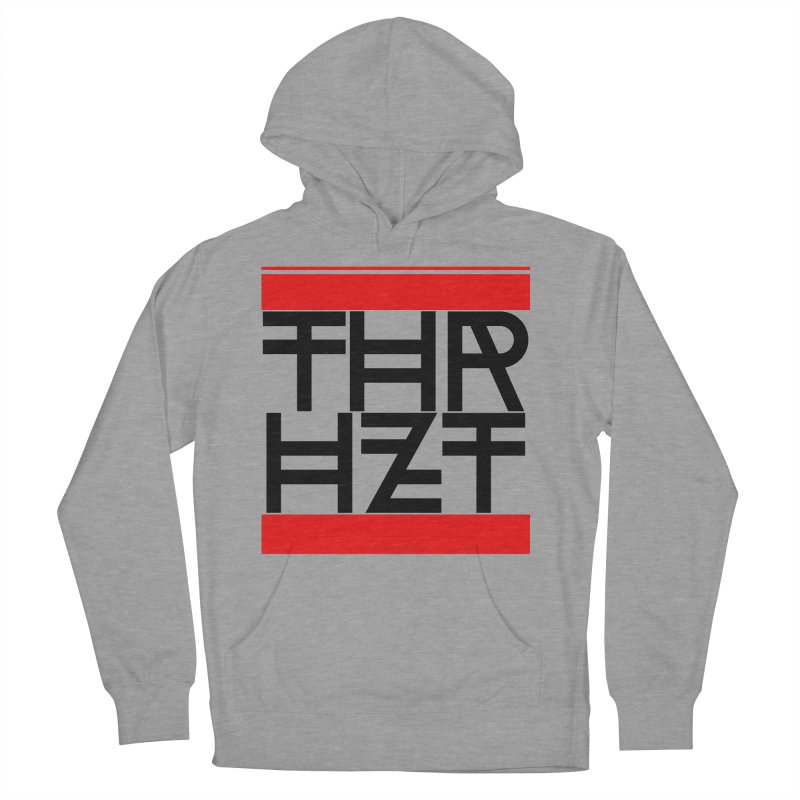 thr3e dmc black in Men's French Terry Pullover Hoody Heather Graphite by theoryhazit's Shirt Shop