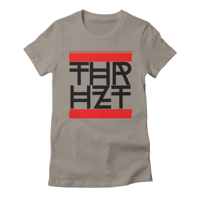 thr3e dmc black Women's Fitted T-Shirt by thr3ads