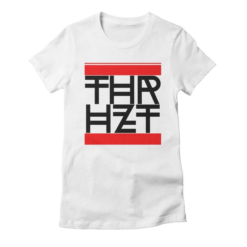 thr3e dmc black Women's Fitted T-Shirt by thr3ads