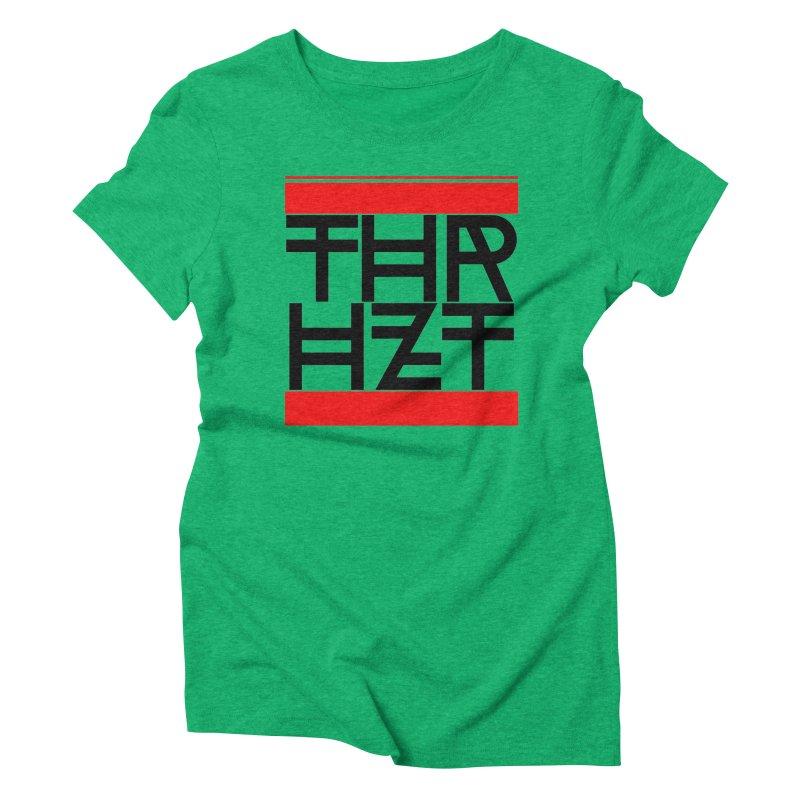 thr3e dmc black Women's Triblend T-Shirt by thr3ads