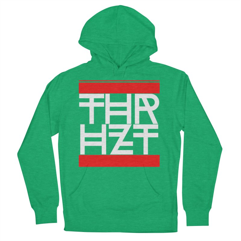 thr3e dmc white Women's French Terry Pullover Hoody by thr3ads