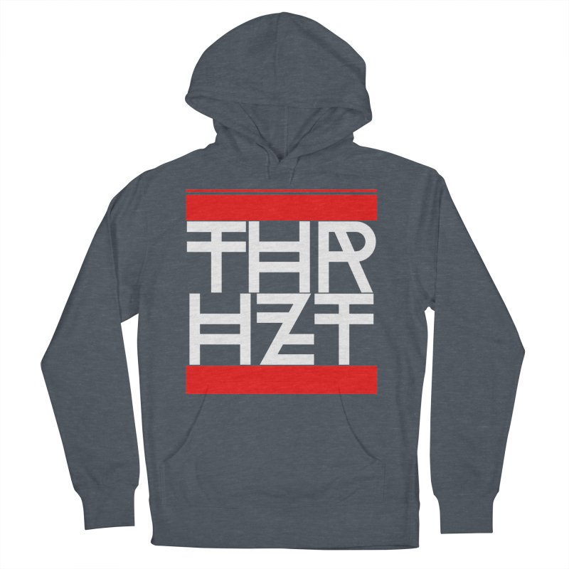 thr3e dmc white Men's French Terry Pullover Hoody by theoryhazit's Shirt Shop